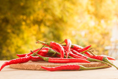 Hot red peppers Royalty Free Stock Image