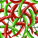 Hot red peppers seamless pattern Stock Photo