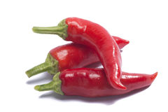 Hot red peppers Royalty Free Stock Photography