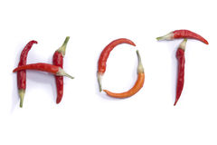 Hot red peppers Royalty Free Stock Photos