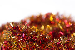 Hot red, yellow and orange abstract Christmas decoration background Royalty Free Stock Image