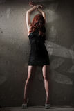 Hot redhead girl Stock Images