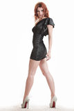 Hot redhead girl Stock Photos