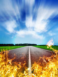 Hot road Royalty Free Stock Images
