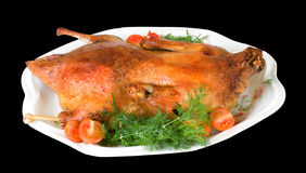 Hot roast duck for xmas royalty free stock image
