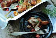 Hot roasted chicken legs Stock Photos