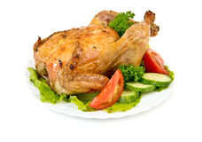 Hot roasted chicken Stock Images