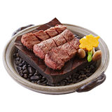 Hot rock platter of roasted beef.  Royalty Free Stock Photo