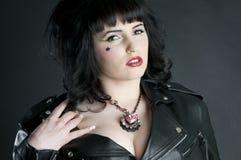 Hot Rocker Babe Stock Photo