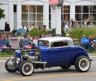 Hot rod at Autofest on Main Street in Frankenmuth Stock Photos