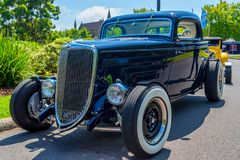 Hot rod black Ford 7 Royalty Free Stock Image