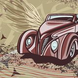 Hot Rod Car Background Stock Image