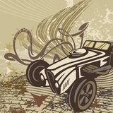 Hot Rod Car Background Royalty Free Stock Image
