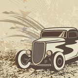 Hot Rod Car Background Royalty Free Stock Photos