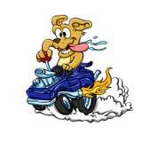 Hot rod car dog stock illustration