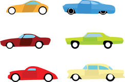 Hot rod car icons Stock Images