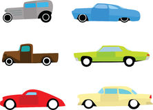 Hot rod car icons Royalty Free Stock Photo