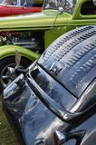 Hot Rod car's parked in a row. Royalty Free Stock Photography