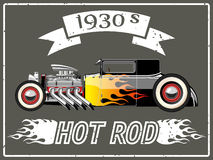 Hot rod car. A vector illustration of a vintage hot rod Royalty Free Stock Photo