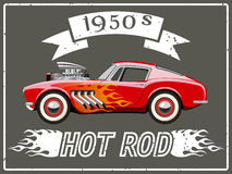 Hot rod car. A vector illustration of a vintage hot rod Royalty Free Stock Image