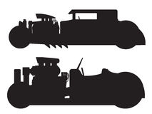 Hot rod car. A vector illustration of a vintage hot rod silhouette Royalty Free Stock Photos