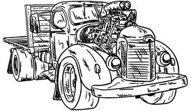 Hot-rod car Stock Image