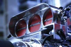 Hot Rod Carburetor. Low angle shot of a hot rod carburetor Stock Photos