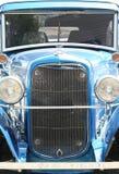 Hot Rod Classic Car. Blue Classic Hot Rod Car Head On Stock Photos