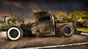 Hot rod classic Stock Photography