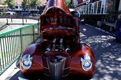 Hot rod classique antique de Car Show image stock