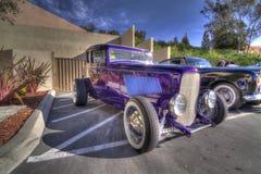 Hot rod de Danville da feira automóvel de Blackhawk em HDR Imagem de Stock Royalty Free