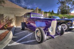 Hot rod de Danville de salon automobile de Blackhawk dans HDR Image libre de droits