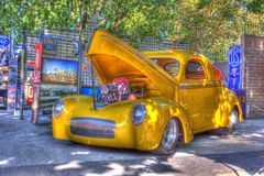 Hot Rod Done in HDR Stock Photo