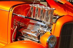 Hot Rod Engine 2. Automotive Hot Rod Engine Custom Rebuilt in Local Car Show Stock Photography