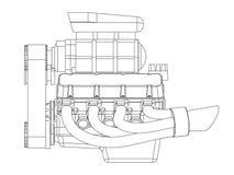 Hot Rod Engine Royalty Free Stock Image