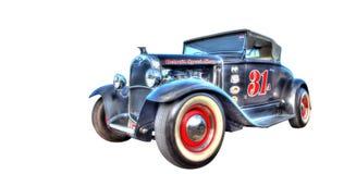 Hot rod fait sur commande de Ford Model A sur un fond blanc Photographie stock libre de droits