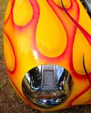 Hot rod fender. Red and yellow flames on the fender of a classic hot rod Stock Photo