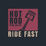 Hot rod graphic for t-shirt,tee design,vector illustration Stock Image