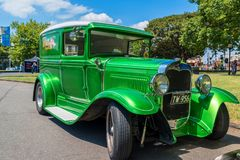 Hot rod green car. At Victorian Hot Rod & Cool Rides Show in Melbourne, Australia Royalty Free Stock Images
