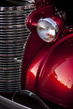 Hot Rod Headlight and Grill Stock Photo