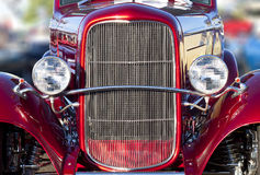 Hot Rod Headlights and Grill Stock Image