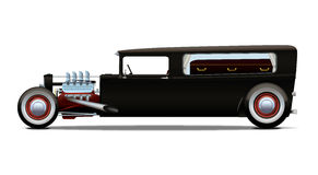 Hot-rod hearse Royalty Free Stock Photos