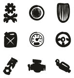 Hot Rod Icons Freehand Fill Royalty Free Stock Photography