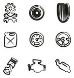 Hot Rod Icons Freehand Royalty Free Stock Photo