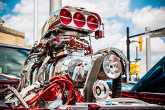 Hot Rod Motor Stock Photo