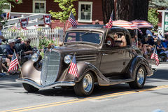 Hot Rod on Parade in Graeagle Royalty Free Stock Images