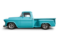 Hot rod pick up truck. Side view of hot rod pick up truck royalty free stock photography