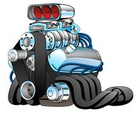 Hot Rod Race Car Engine Cartoon Vector Illustration Royalty Free Stock Photo