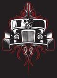Hot rod. Retro car. pinstripes. vector Royalty Free Stock Photography