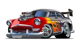 Hot rod retro dos desenhos animados ilustração stock